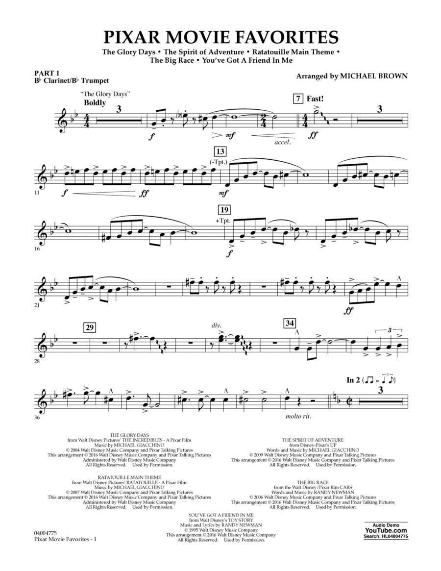 Pixar Movie Favorites - Pt.1 - Bb Clarinet/Bb Trumpet
