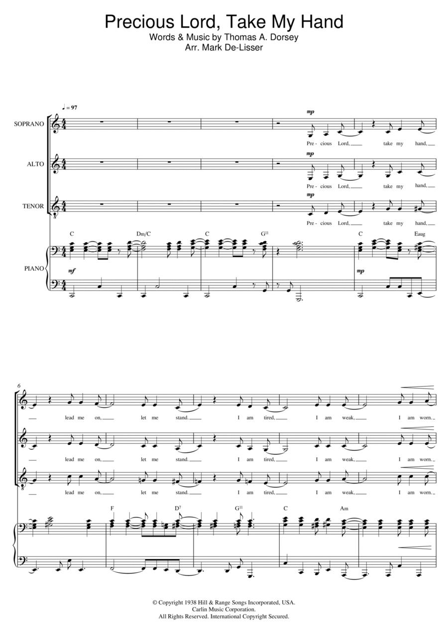Precious Lord, Take My Hand (Take My Hand, Precious Lord) (arr. Mark De-Lisser)
