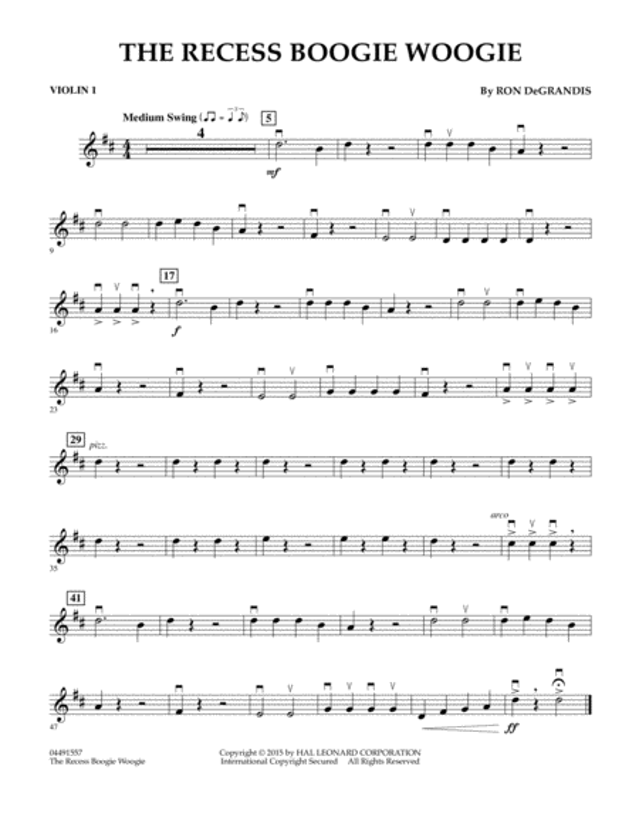 The Recess Boogie Woogie - Violin 1