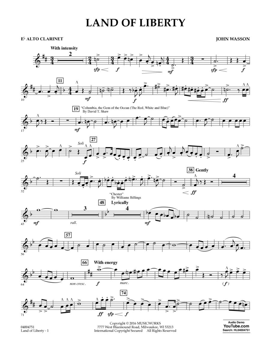 Land of Liberty - Eb Alto Clarinet