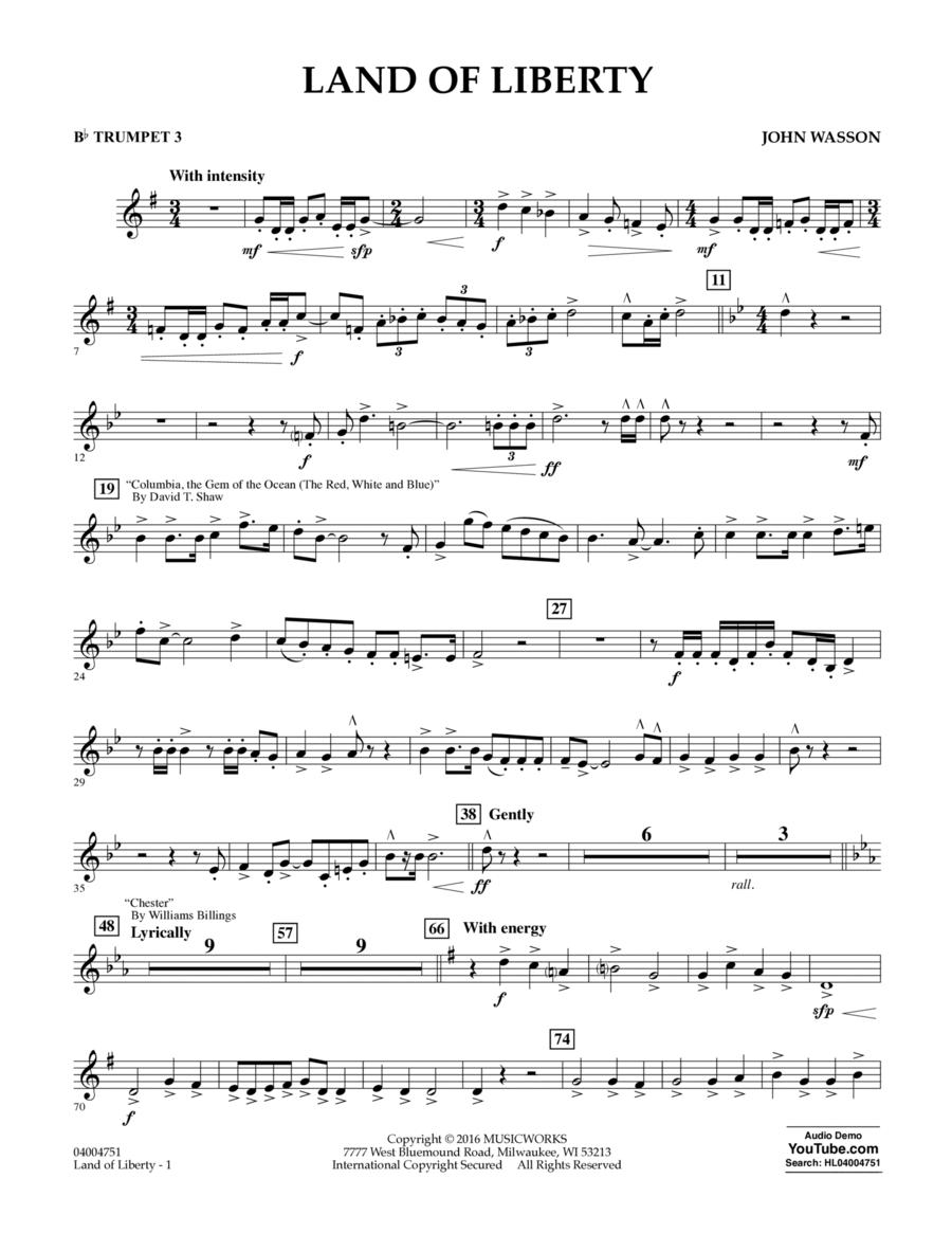 Land of Liberty - Bb Trumpet 3
