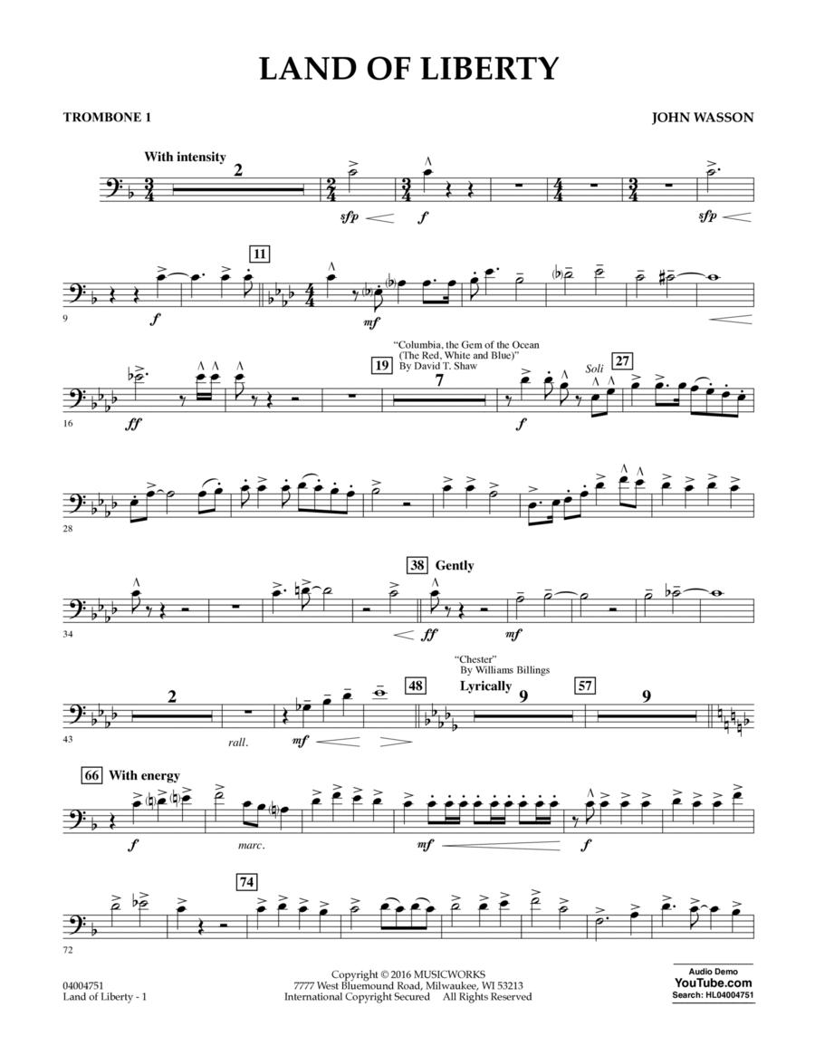 Land of Liberty - Trombone 1