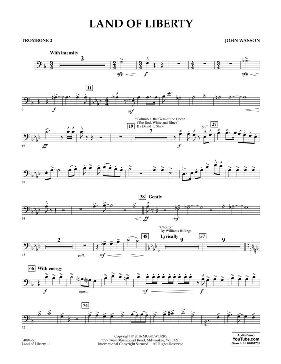 Land of Liberty - Trombone 2