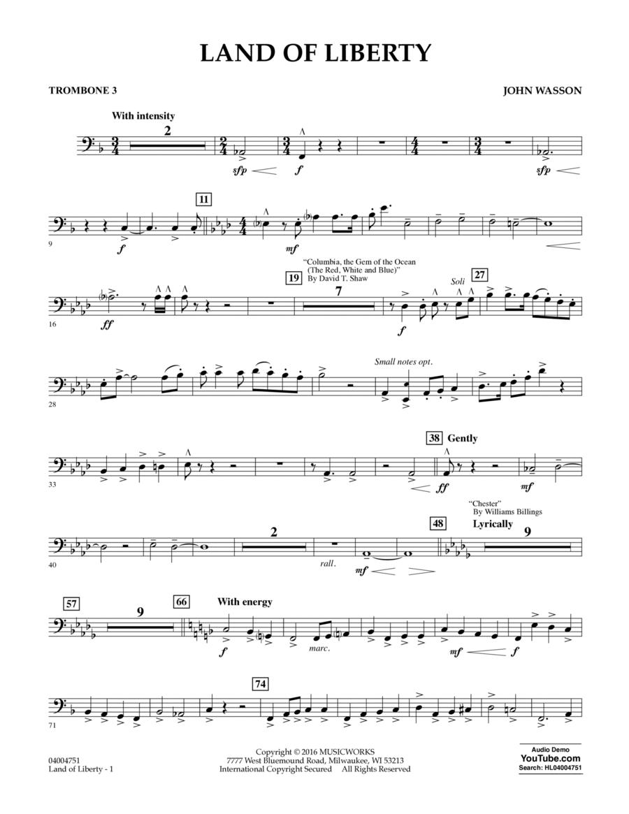 Land of Liberty - Trombone 3