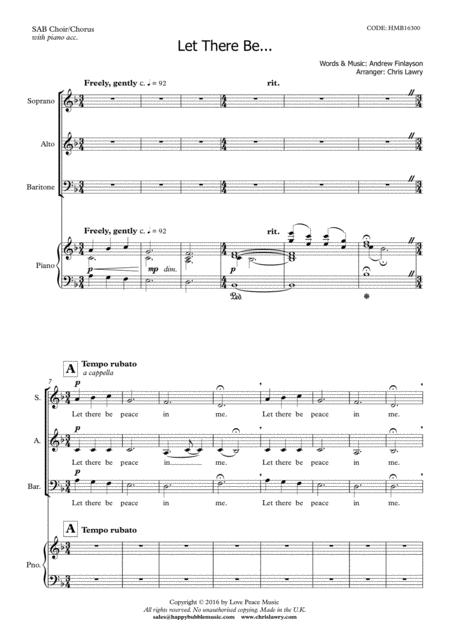 Let There Be...[Peace, Faith, Hope, Love] (for SAB Choir)