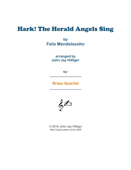 Hark! The Herald Angels Sing for Brass Quartet