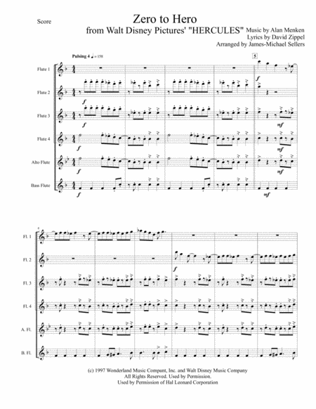 Zero To Hero (for Flute Choir)