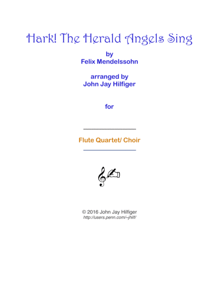 Hark! The Herald Angels Sing for Flutes