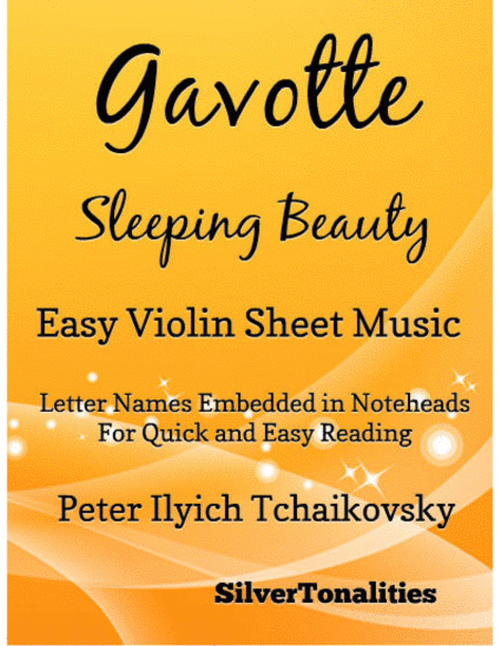 Gavotte Sleeping Beauty Easy Violin Sheet Music