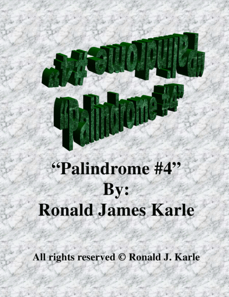 Palindrome #4