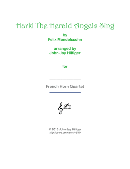 Hark! The Herald Angels Sing for Horns