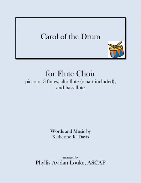 The Little Drummer Boy for Flute Choir