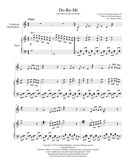 Do-Re-Mi - for xylophone/metallophone with piano accompaniment