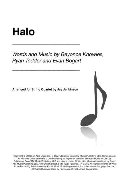 Halo for String Quartet