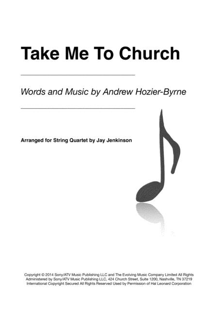 Take Me To Church for String Quartet