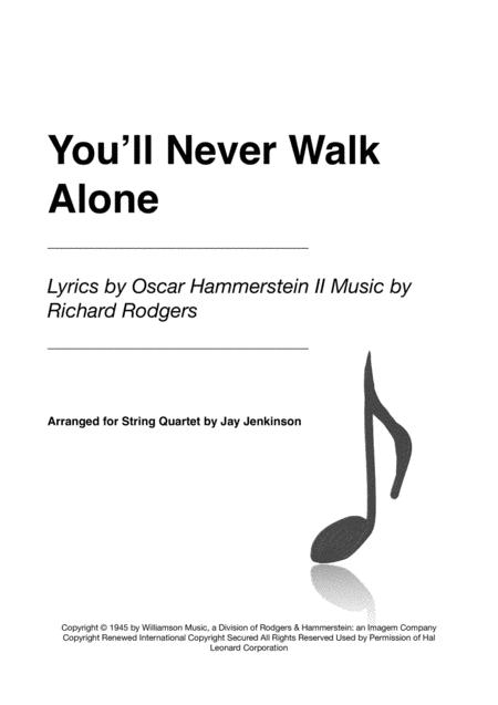 You'll Never Walk Alone for String Quartet