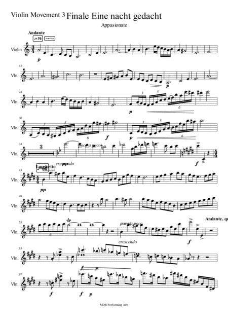 Sonate for violin and Piano movement 3 Violin score