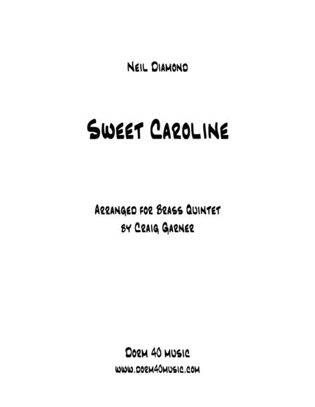 Sweet Caroline for Brass Quintet
