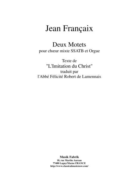 Jean Françaix: Deux Motets for SSATB chorus and organ