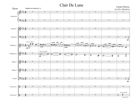 Clair De Lune (arranged for percussion ensemble)