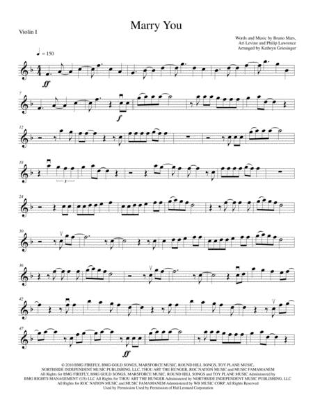 Marry You - String Quartet