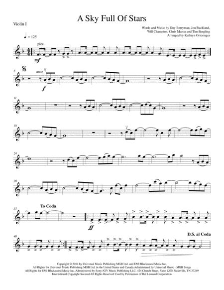 A Sky Full Of Stars - String Quartet
