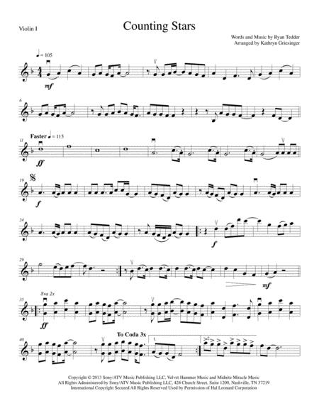 Counting Stars - String Quartet