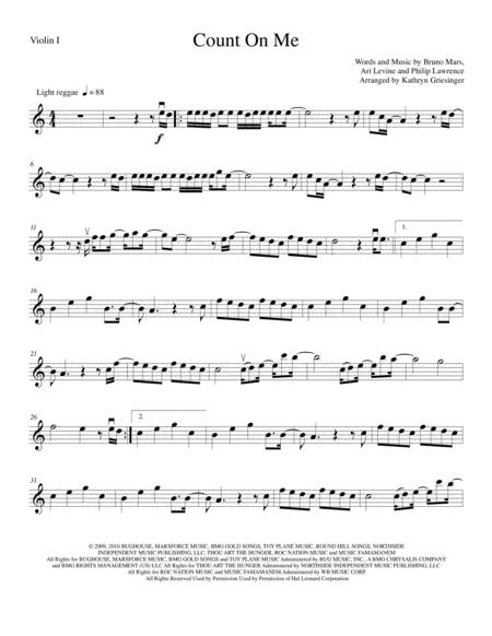 Count On Me - String Quartet