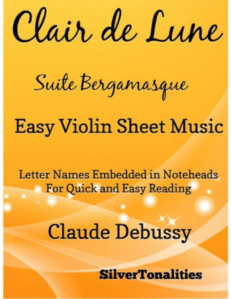 Clair de Lune Easy Violin Sheet Music