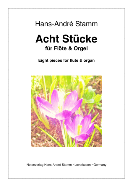 Eight pieces for flute and organ