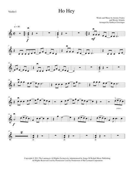Ho Hey - String Quartet