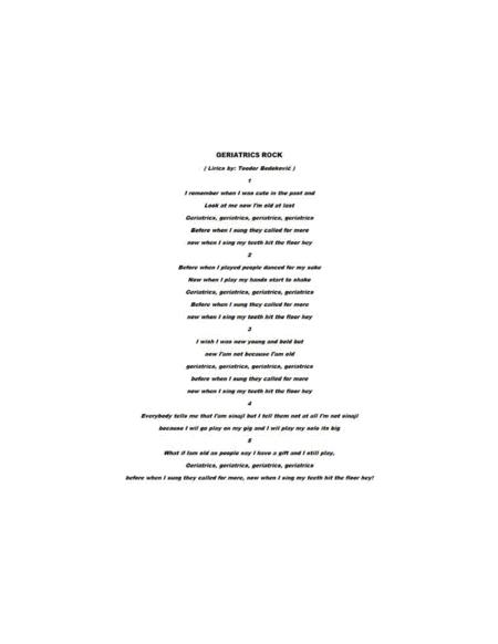 GERIATRICS ROCK - 7 PAGES