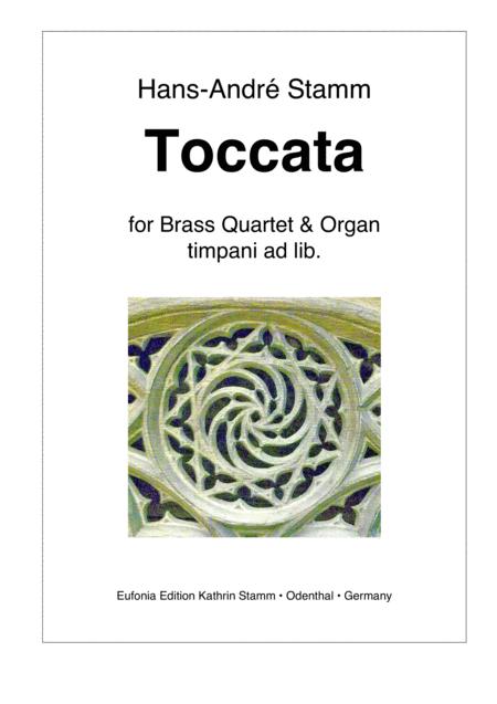 Toccata for brass quartet & organ, timpani ad lib.