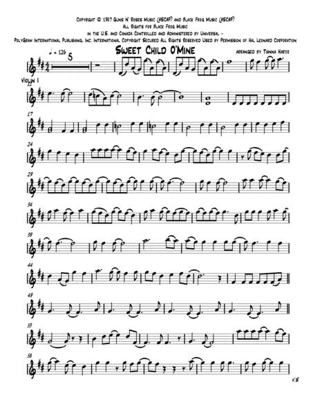 Sweet Child O' Mine - String Trio (vln, vla, cello)