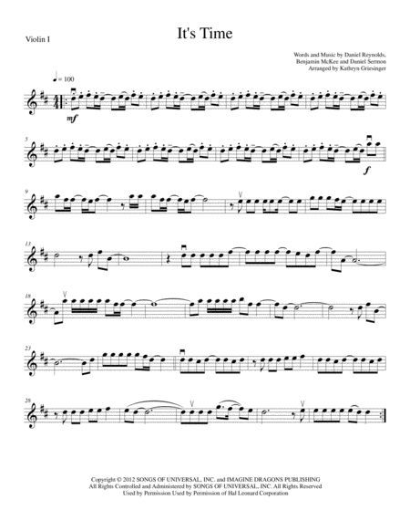 It's Time - String Quartet