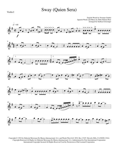 Sway (Quien Sera) - String Quartet
