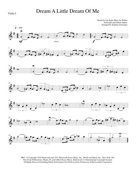 Dream A Little Dream Of Me - String Quartet