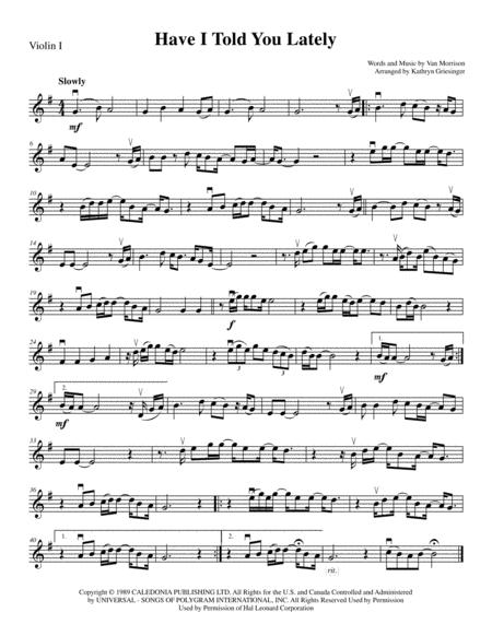 Have I Told You Lately - String Quartet