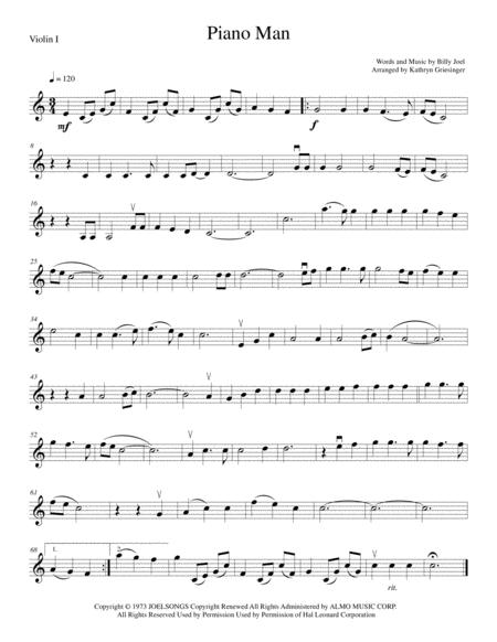 Piano Man - String Quartet