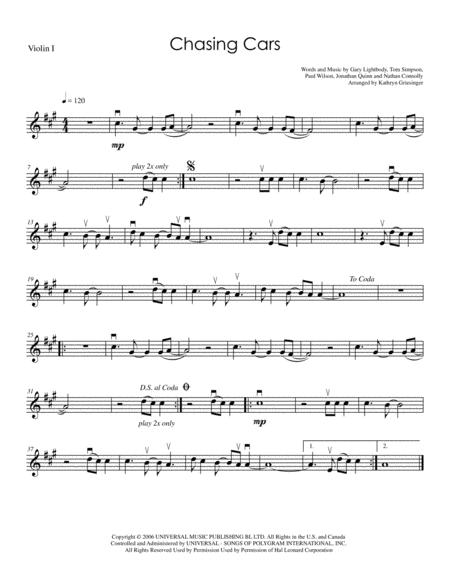 Chasing Cars - String Quartet