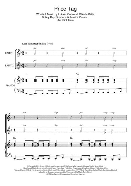 Price Tag (arr. Rick Hein)