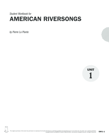 Guides to Band Masterworks, Vol. 6 - Student Workbook - American Riversongs
