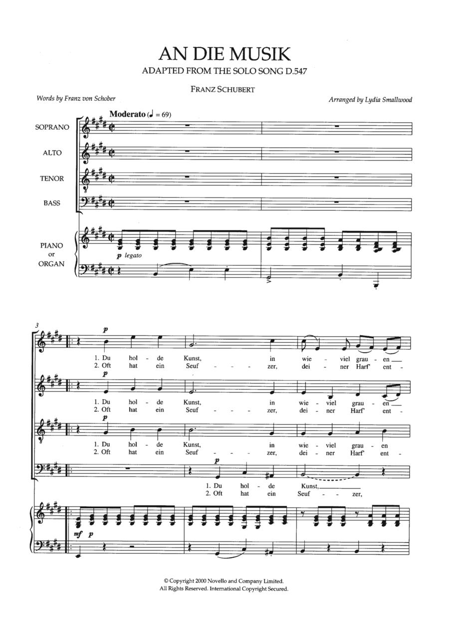 An Die Musik (arr. Lydia Smallwood)