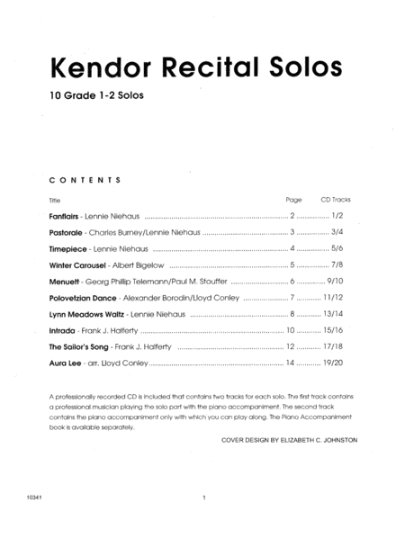 Kendor Recital Solos - Horn In F - Solo Book