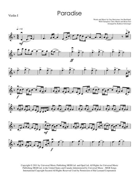 Paradise - String Quartet