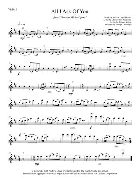 All I Ask Of You - String Quartet