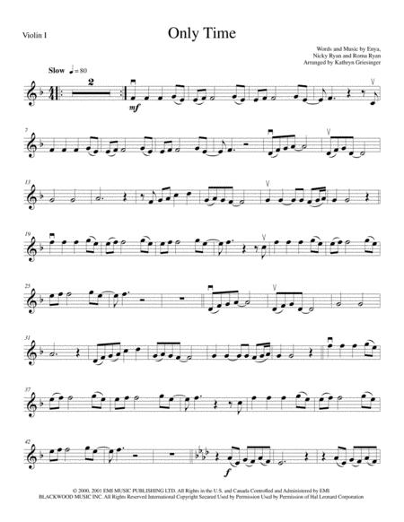 Only Time (Enya) String Quartet