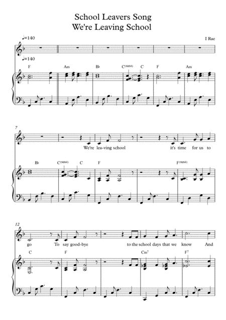 School Leavers Song - We're leaving School