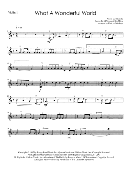 What A Wonderful World - String Quartet
