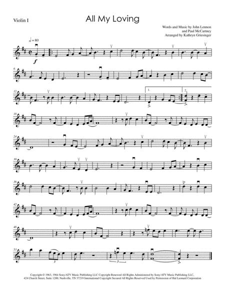 All My Loving (Beatles) String Quartet